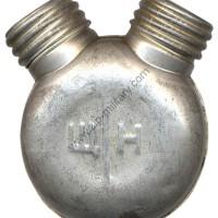 Маслёнка круглая 2-х горловая