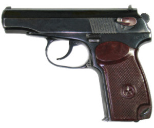 Охолощённый пистолет Макарова (ВПО-525) калибром 10х24мм.